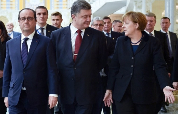 Hollande, Poroshenko, Merkel will meet in Normandy Four format in Paris on Friday / Photo from UNIAN