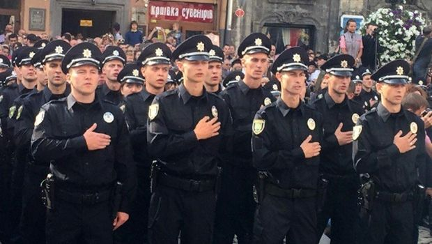 Lviv's brand new police number over 400 officers / Photo from Ukraine's Interior Ministry