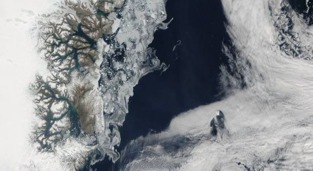 Из-за глобального потепления регистрируется малый уровень льда / NASA