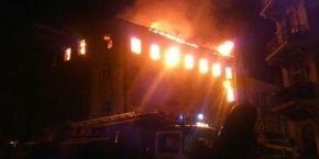 В исторической части Тернополя ночью произошел пожар