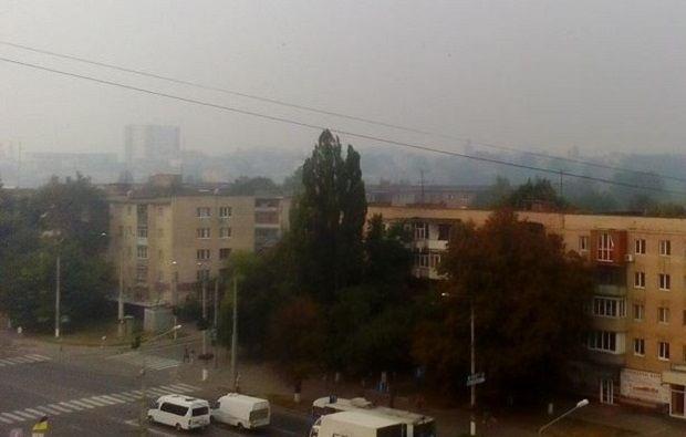 На фото - задимлена Вінниця / vn.depo.ua
