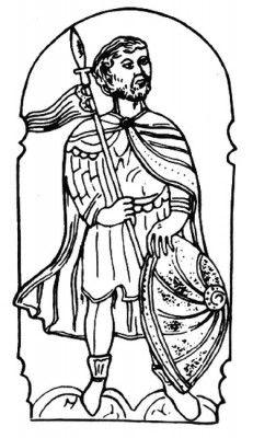 Великий князь Литовский Войшелк. Гравюра XVI в.