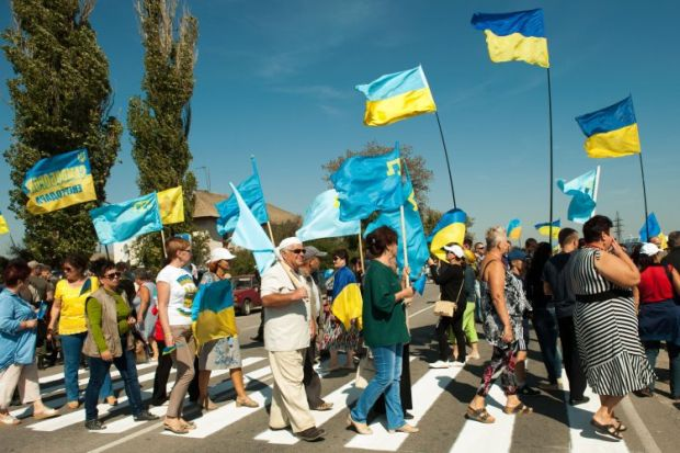 The activists name de-occupation of Crimea and the restoration of Ukraine's territorial integrity as theur main goal / Photo from UNIAN