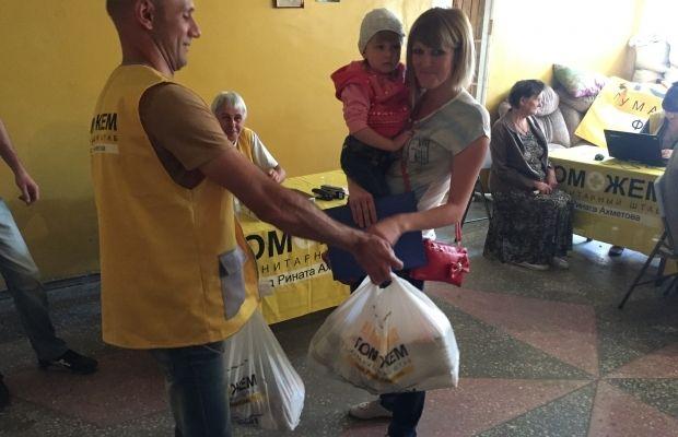 В Снежном Донецкой области закончили 1,5-месячную работу мобильные бригады волонтеров Штаба / Фото: Пресс-служба Гуманитарного штаба Рината Ахметова