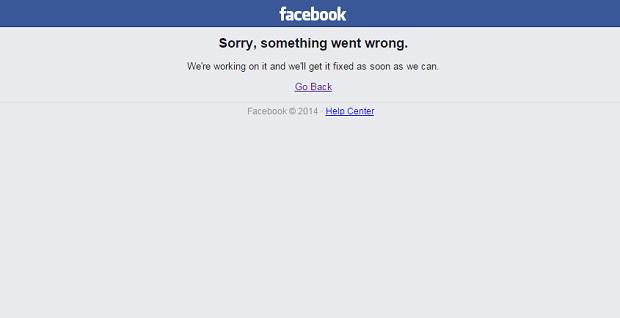 Уроботі соцмережі Facebook стався збій
