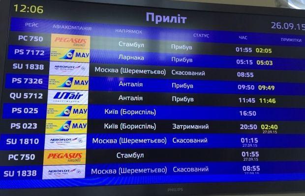 Рейсы отменены, в компании пока никак не комментируют / Фото: Ольга Лаппо