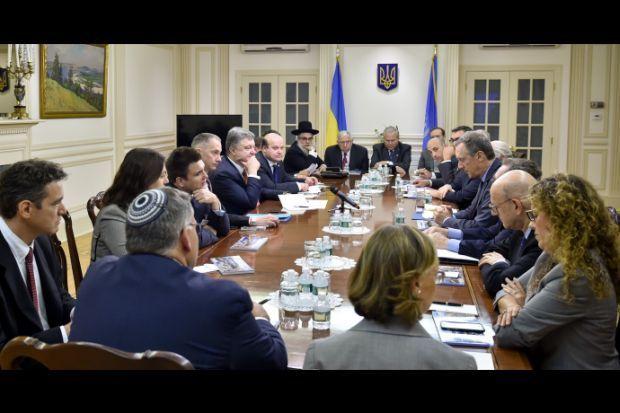 Порошенко встретился с представителями еврейской громады в США