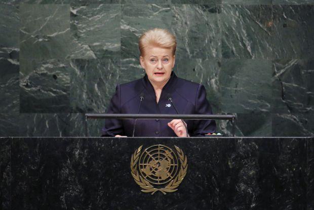 Грибаускайте призвала мировое сообщество сосредоточиться на поддержании мира в Украине и в мире