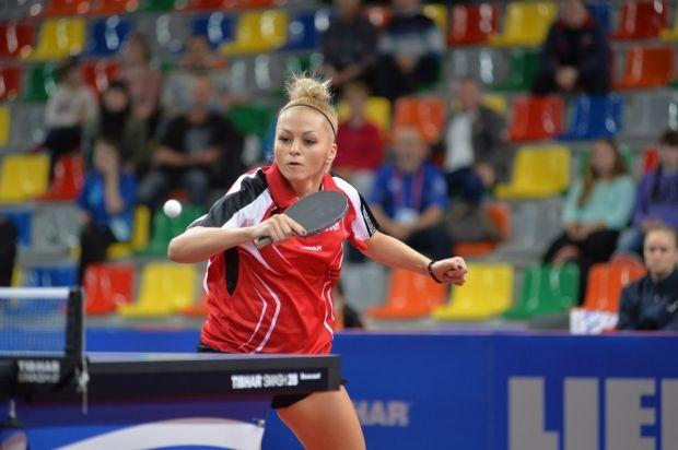 Татьяна Биленко принесла сборной Украины единственное очко в матче с Румынией / ettc2015.com