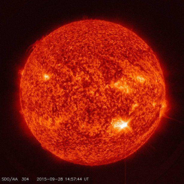 В NASA опубликовали снимок вчерашней солнечной вспышки