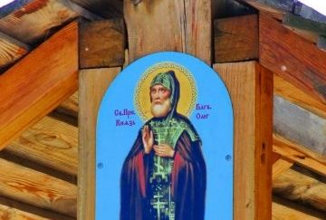 Икона в храме в честь святого благоверного князя Олега Брянского в Киеве