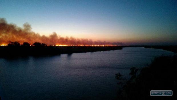 пожар плавни Днестр / trassae95.com