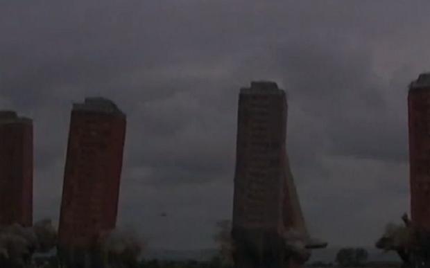 Подрыв многоэтажек в Глазго / Скриншот