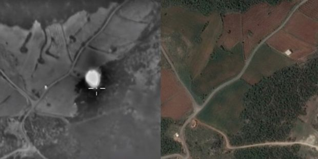 For each of the videos Bellingcat sought to answer the following questions: Did the Russian airstrike target the location it claims it did? And is there any proven ISIS presence in the bombed area? / bellingcat.com