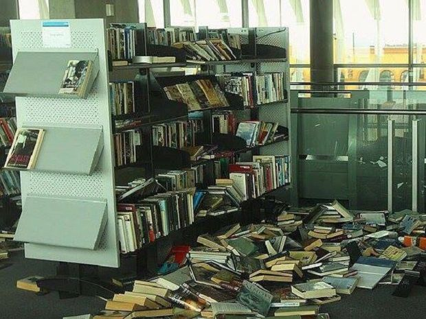 The library after the search / Photo from twitter.com/toprt_ua