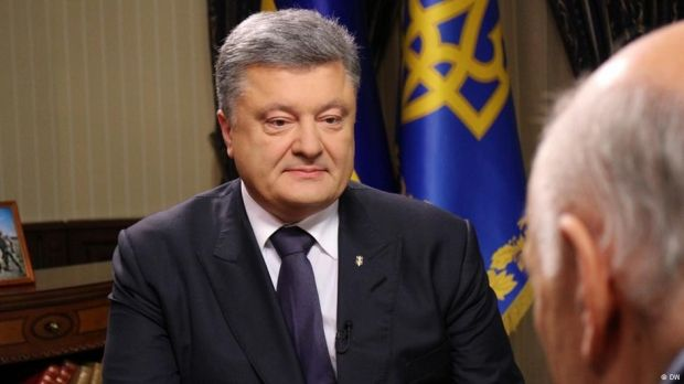 Poroshenko tells Deutsche Welle about Ukraine's NATO-related plans / Photo from DW