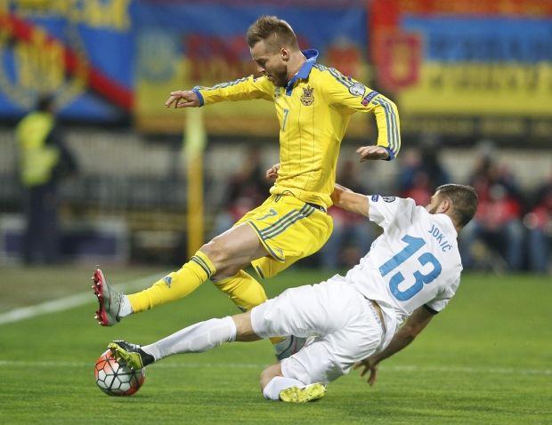 Сборная Украины сыграла вничью со Словенией и вышла на Евро-2016