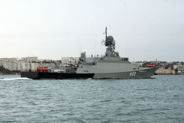 Two stealth battleships join Russia's Black Sea Fleet / information support department of the Black Sea FLeet