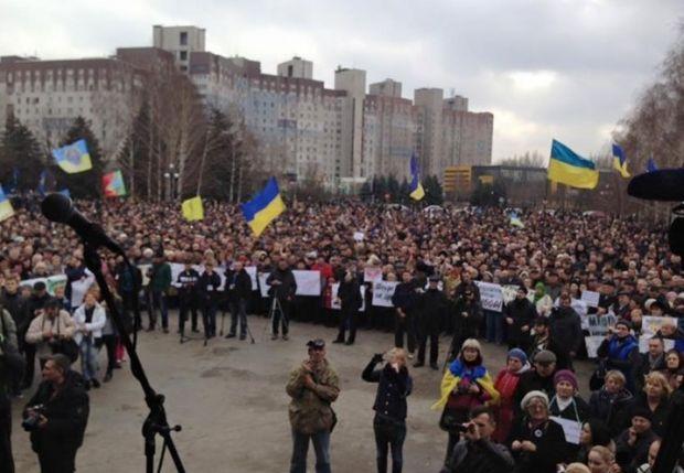 УКривому Розі протестують проти визнання результатів виборів мера