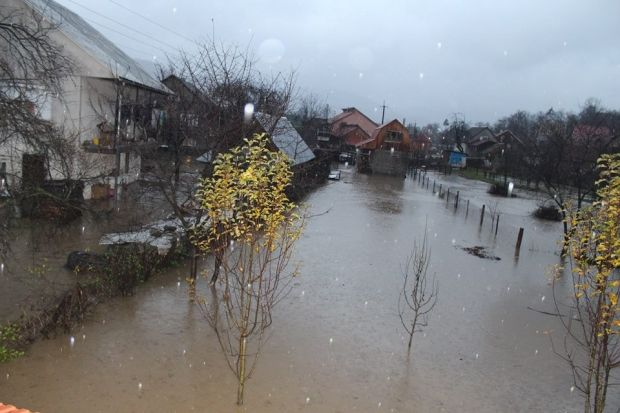 У Закарпатській області через сильні дощі 20 листопада почався паводок / Фото zakarpattya.net.ua