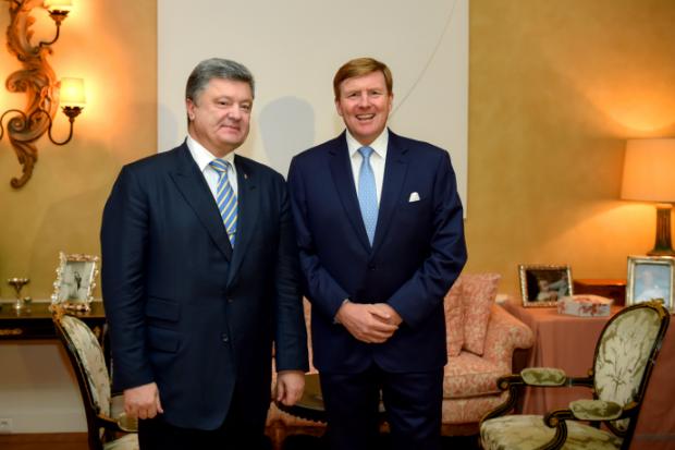 порошенко, король нодерландов Виллем-Александр Клаус Георг Фердинанд / president.gov.ua