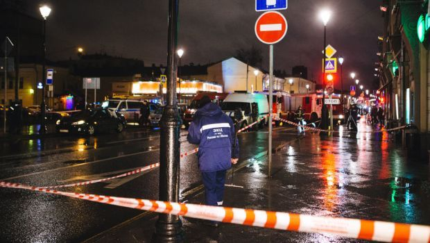 There was a report of an explosion at a bus stop in Moscow on Monday evening / Photo from gazeta.ru