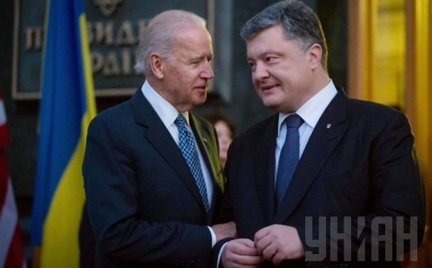 The Ukrainian president briefed Biden on the situation in Donbas / Photo from UNIAN