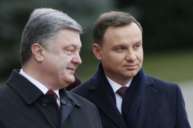 Порошенко Дуда / REUTERS