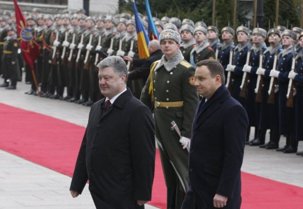 """Andrzej Duda arrived in Ukraine with """"a bag of gifts"""" / Photo from UNIAN"""
