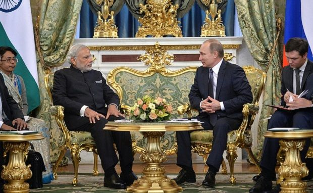 A package of 15 documents was signed in the presence of Putin and Modi / Photo from kremlin.ru