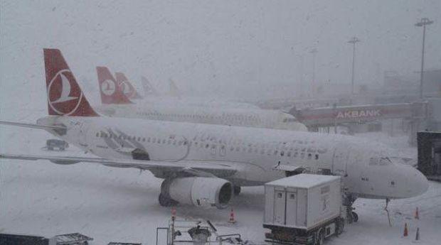 Turkish Airlines скасувала 142 рейси через сніг