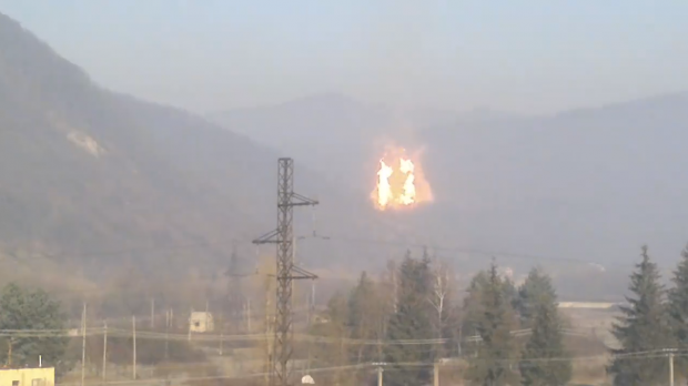 A gas pipeline exploded near the west Ukrainian town of Khust on January 1 / Video screenshot