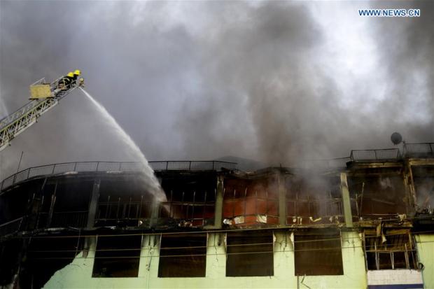 пожар мьянма янгон рынок / Xinhua