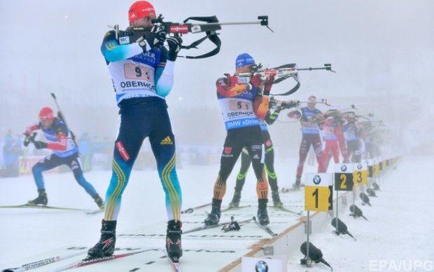 Украинские биатлонисты завоевали бронзу в смешанной эстафете чемпионата Европы
