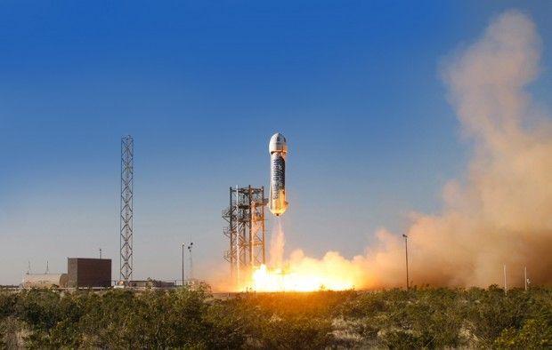 В США успешно приземлилась многоразовая ракета New Shepard (видео)