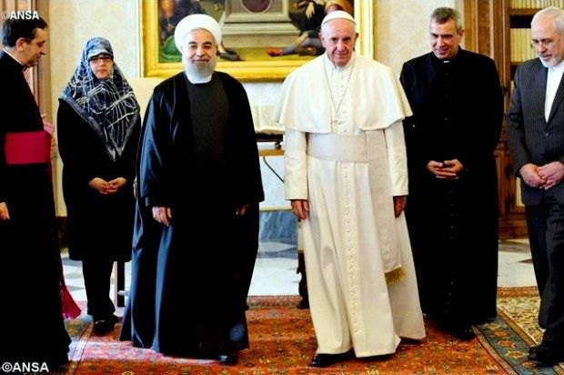 Встреча Папы Франциска и Президента Ирана Хасана Рухани. Ватикан, 26 января 2016 - ANSA