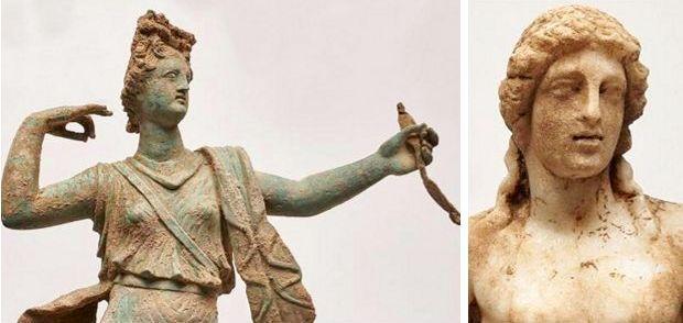 У Греції знайшли стародавні скульптури античних богів. Фото: Міністерство культури Греції www.yppo.gr
