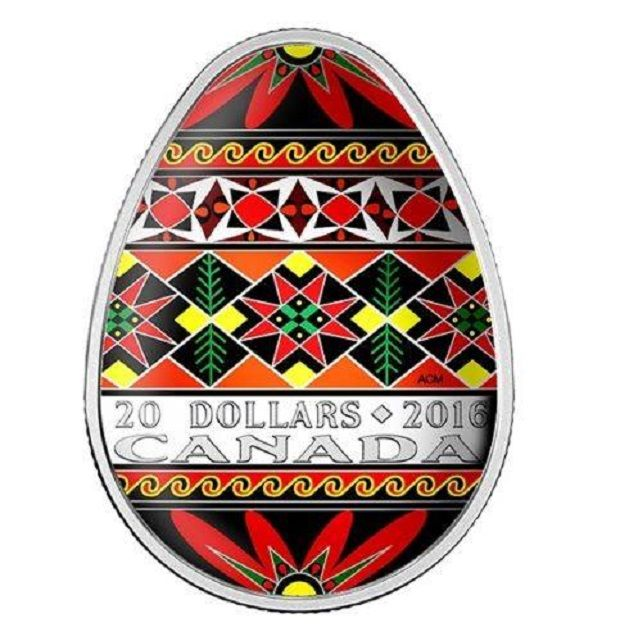 The first-ever egg-shaped coin issued by the Royal Canadian Mint / Image from mint.ca
