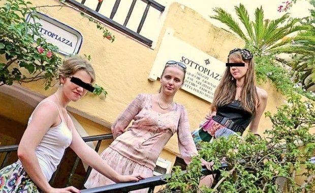 Дочь Путина (в центре) с друзьями на отдыхе в Италии / thenewtimes.ru
