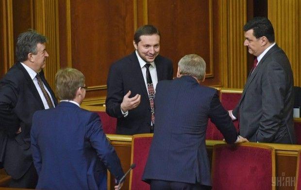 Юрій Стець (по центру) та Олександр Квіташвілі (праворуч) / Фото УНІАН