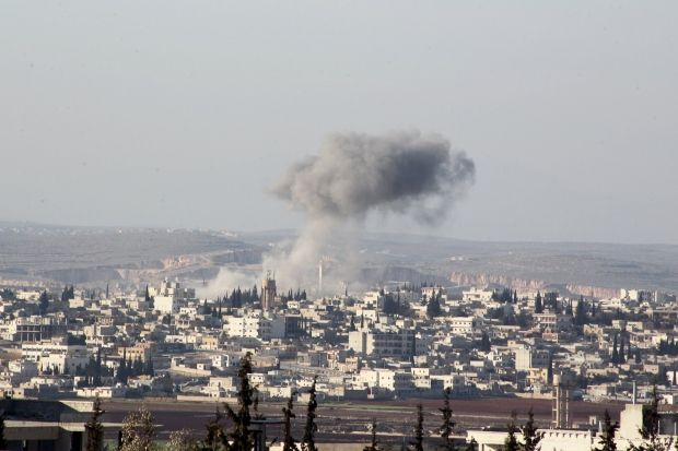 В Сирии под Дамаском разбился военный самолет