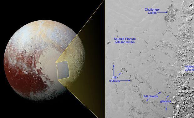 NASA показало снимок айсбергов Плутона