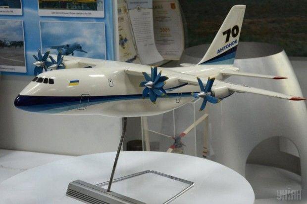 Модель самолета Ан-70 в музее серийного завода