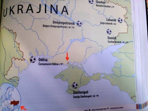 Ukraine demands from Czech publisher to fix map with Russian