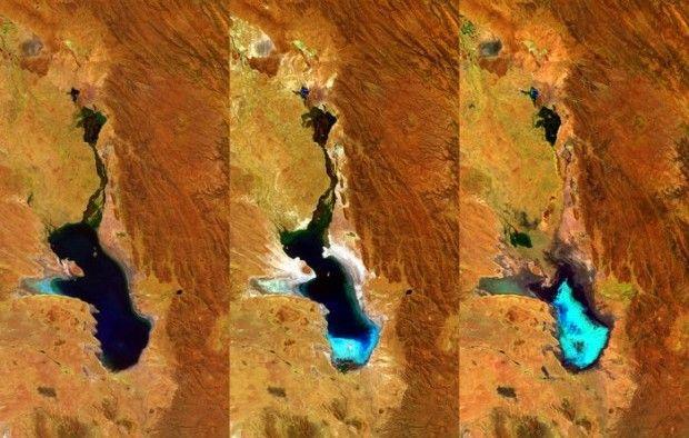 Спутниковые снимки озера / ESA