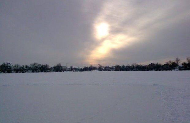 осокорки озеро лед зима киев / panoramio.com/user/5710221