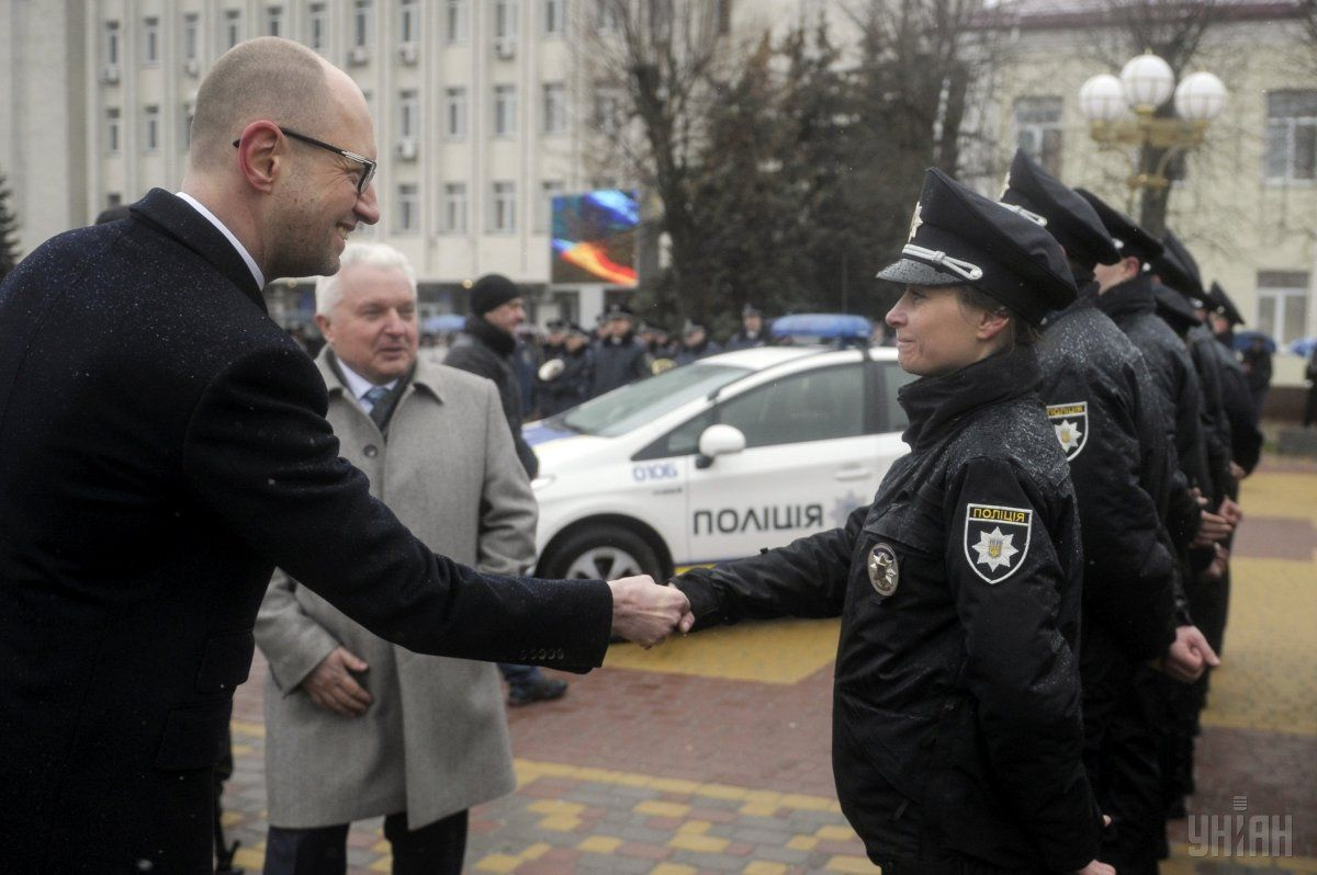 яценюк полиция / Фото УНИАН