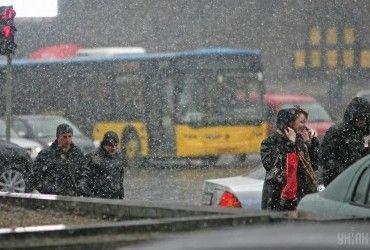 Pohoda na tyžden': v Ukraїni projdut' došči ta mokryj snih (karta)