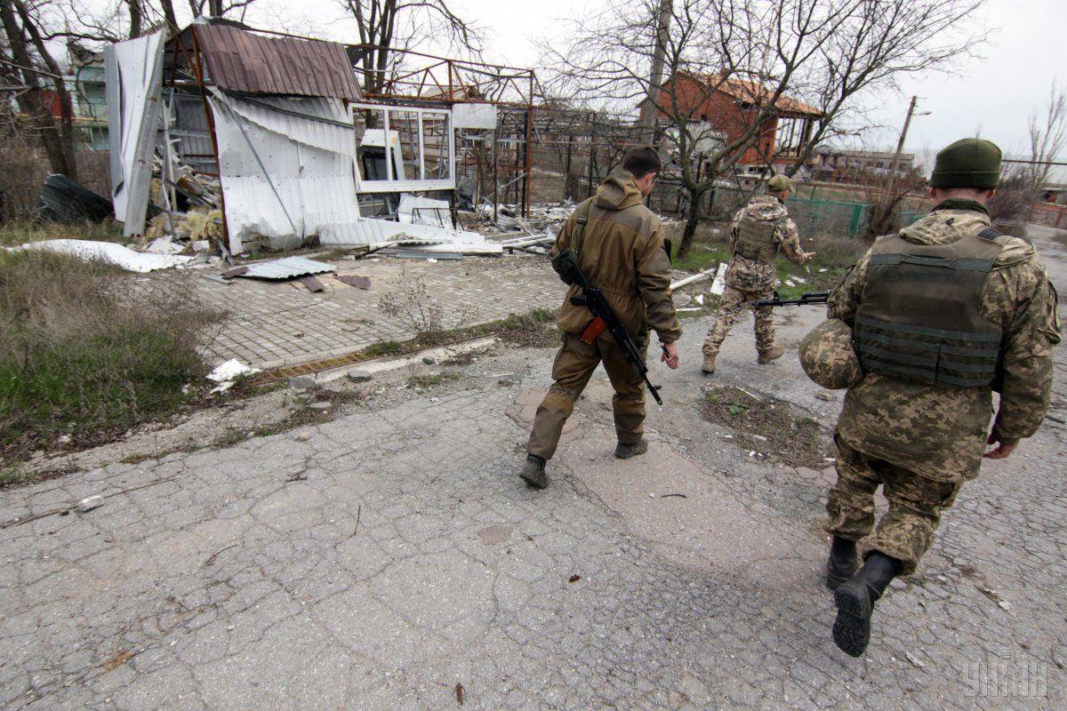 Українські військові у Широкиному / УНІАН