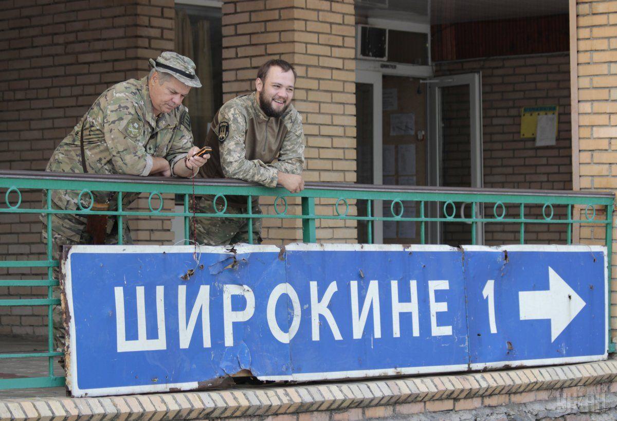 Жебрівський каже, що сили АТО остаточно відновили контроль над Широкине / фото УНІАН